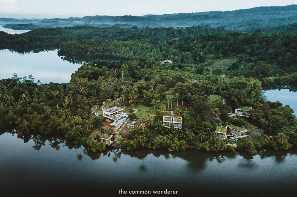 Tri hotel at Koggala lake, sri lanka
