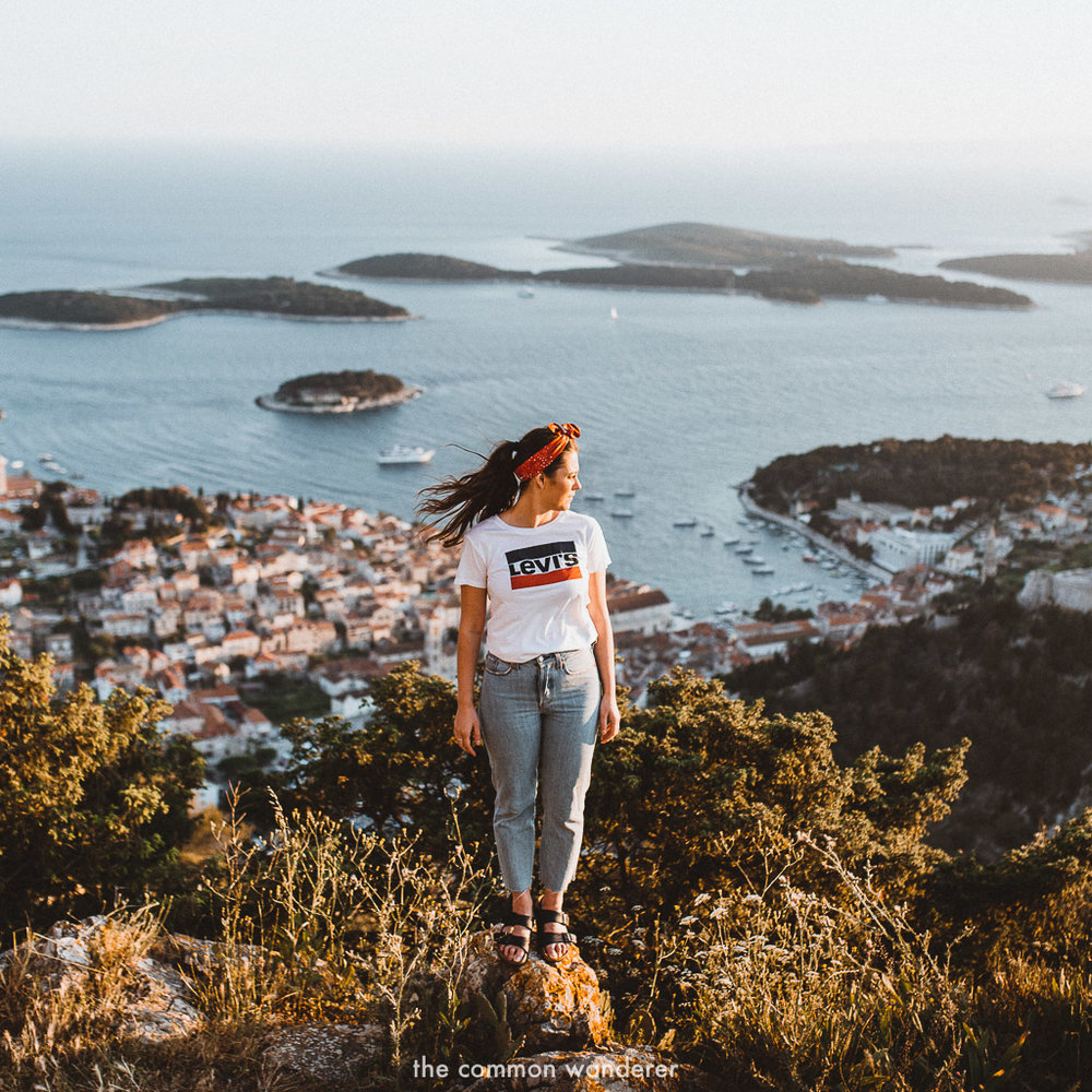 Overlooking the incredible Hvar town at sunset - Best things to do in Hvar town, Croatia