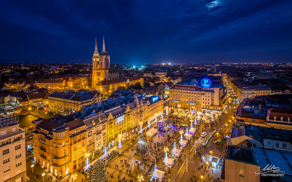 Zagreb by night - Photo by Milan 81 -https://www.flickr.com/photos/96236102@N07/