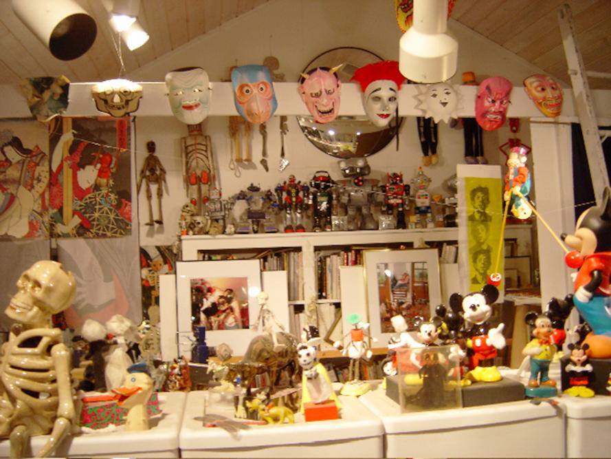 Uncle's art studio in west Michigan