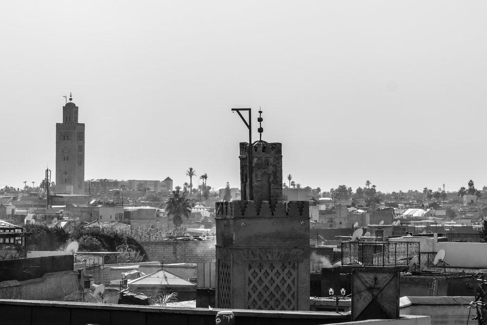 A rooftop view from  Maison de la Photographie