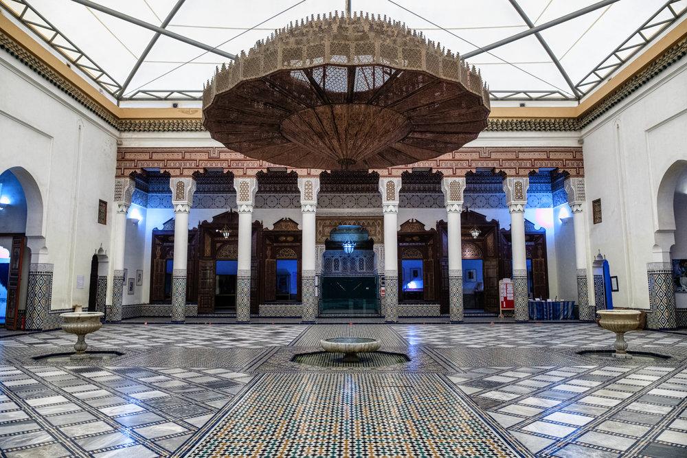 Inside the stunning Musee De Marrakech