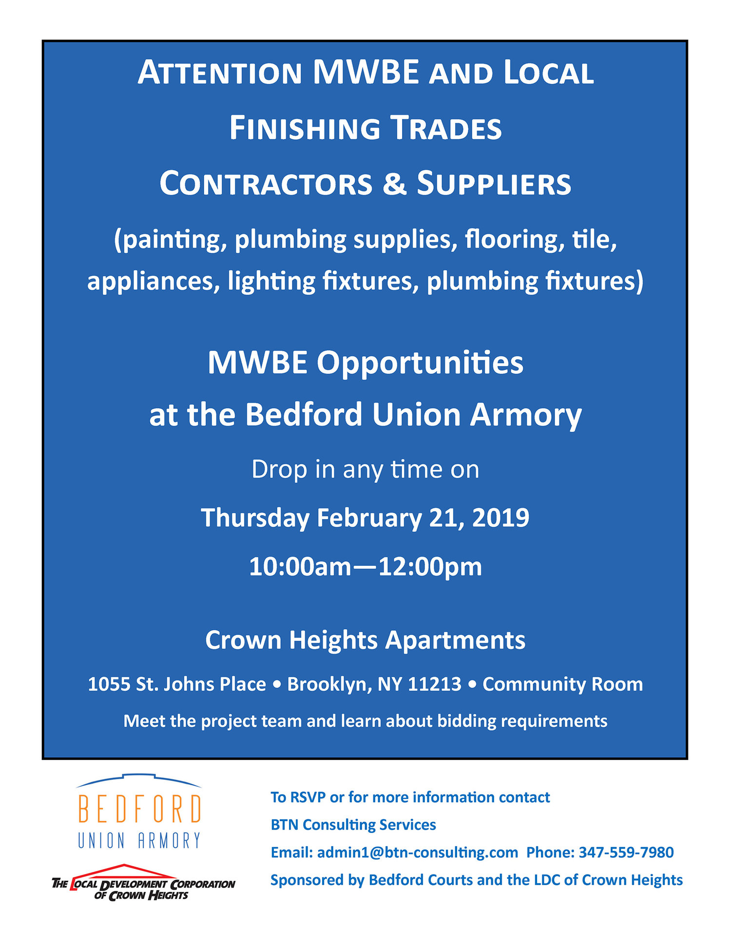 Mwbe Contractors Event For Finishing Trades Bedford Union Armory