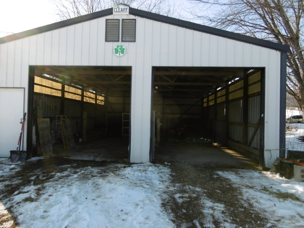 slightly more organized barn