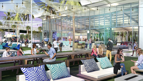 A rendering of the new waterfront space