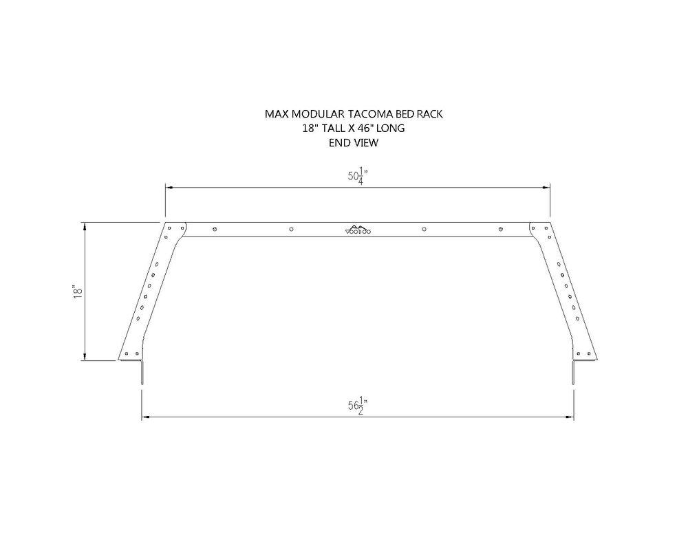 MAX+Tacoma+18x46+End+View max modular aluminum taco max 18\