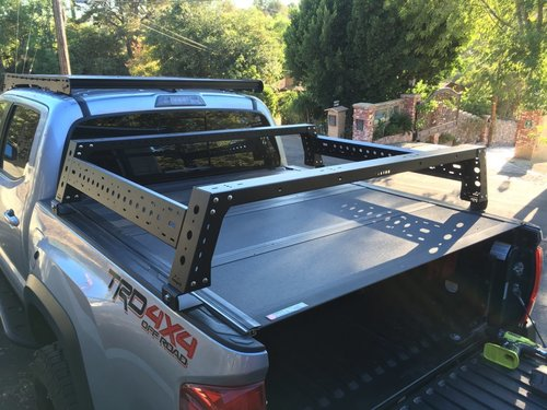 Bed Rack Tacoma >> Max Modular Bed Rack Tonneau Brackets For Tacoma S With Bakflip