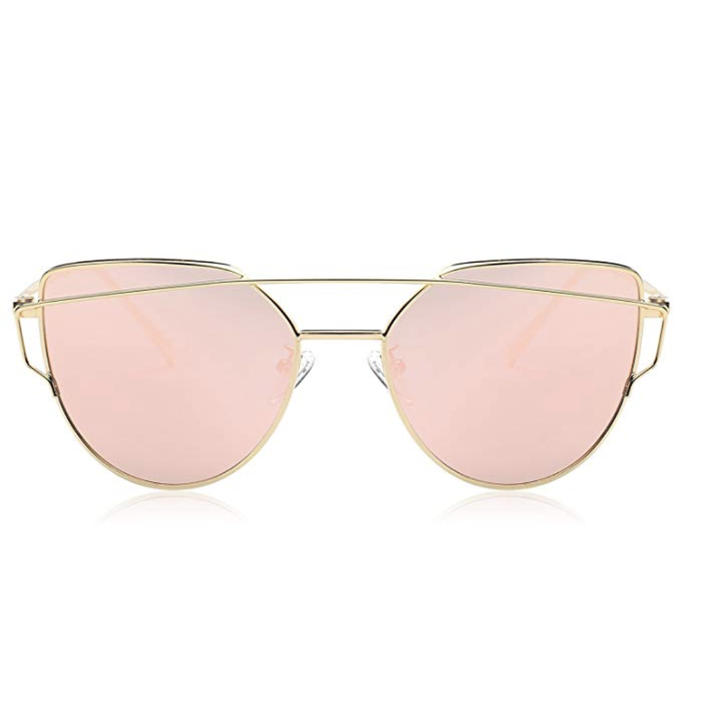 Sunglasses - Shield your eyes from the rays with a cute pair of sunnies! These cat-eye mirrored sunglasses are not only adorable, but offer all-important UV protection for your eyes.
