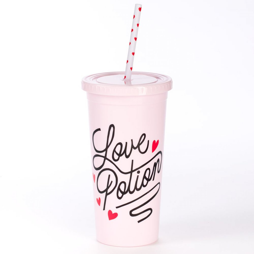 Love Potion Tumbler - If she's more of an iced coffee kind of girl (same), this tumbler is great for her to take her favorite drink anywhere.