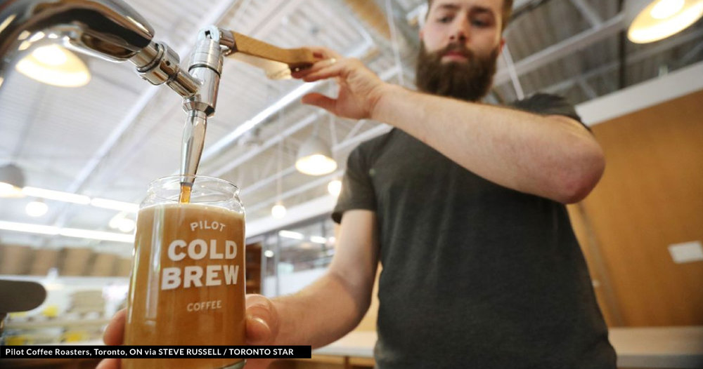 Stock image of Nitro Cold Brew from Pilot Coffee Roasters in Toronto (   Source   )