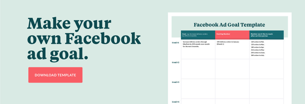 download facebook ad goals template