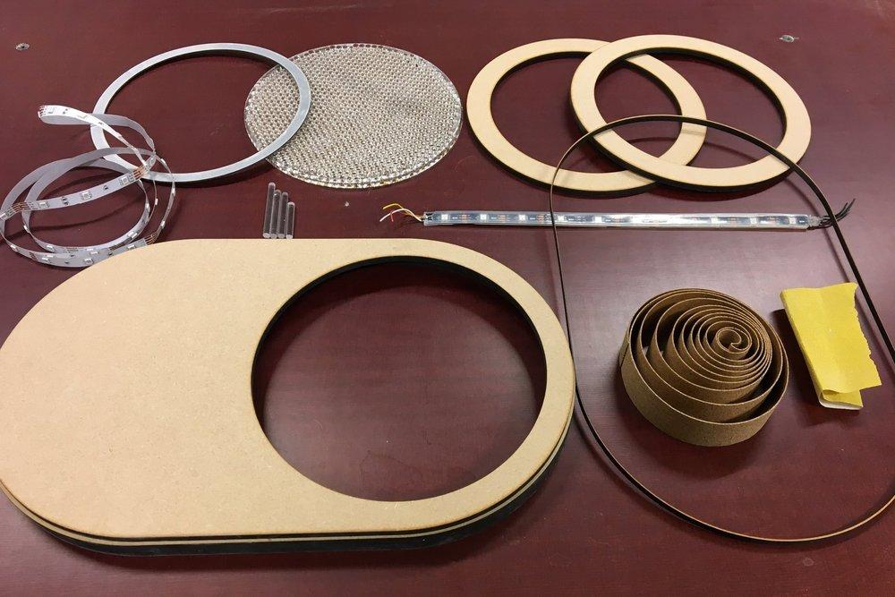 Final lasercut parts before assembly