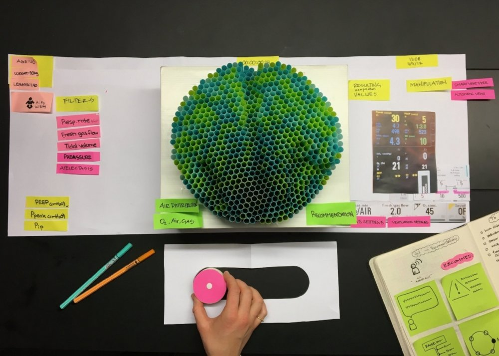 A straw prototype to switch between modes