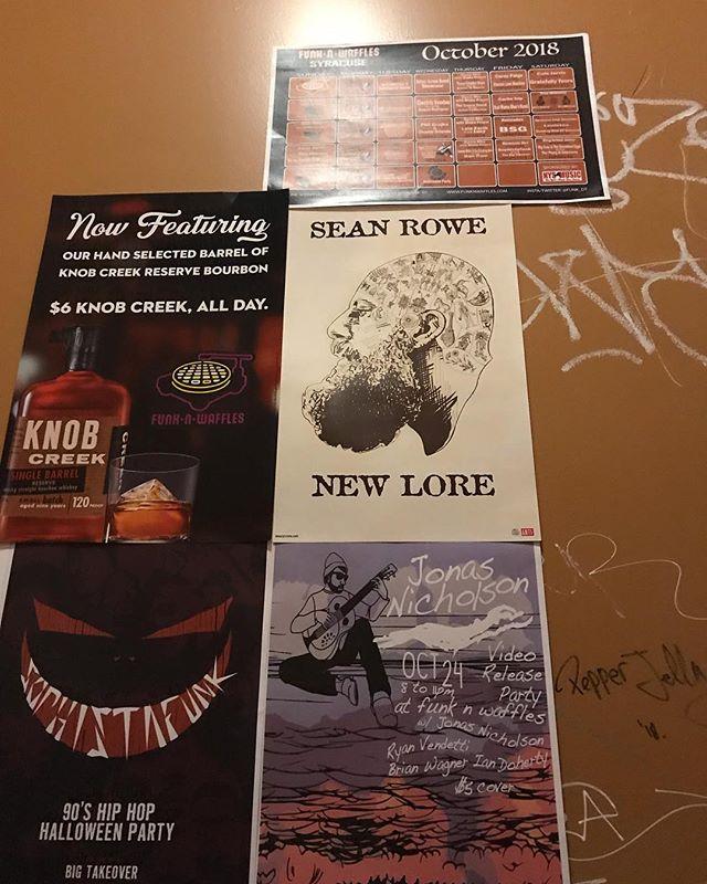 When you see Sean Rowe in Syracuse . . . . . #indiemusic #indieartist #fenderacoustic #syracuse #funknwafflesyracuse #funknwaffles