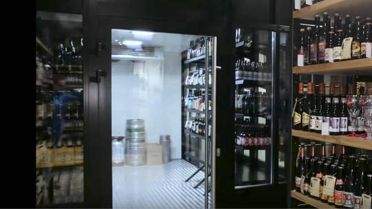 - Speaking of cool, if you don't want to wait a long time at home while your beers chill in your fridge, just grab them from the Beer Lovers cold room.