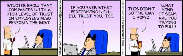 Dilbert and trusting employees