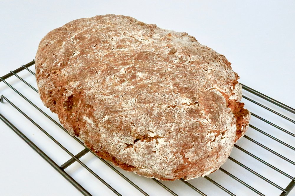 Let the soda bread cool on a wire rack