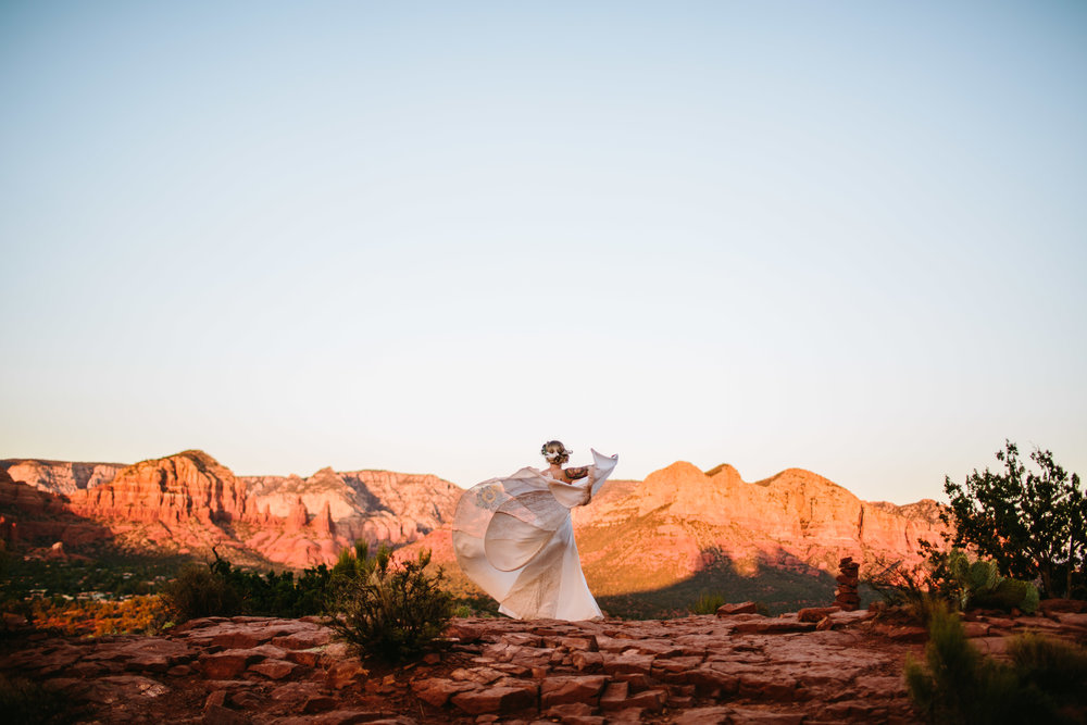 christy lee & chris - Cathedral Rock, Sedona, Arizona