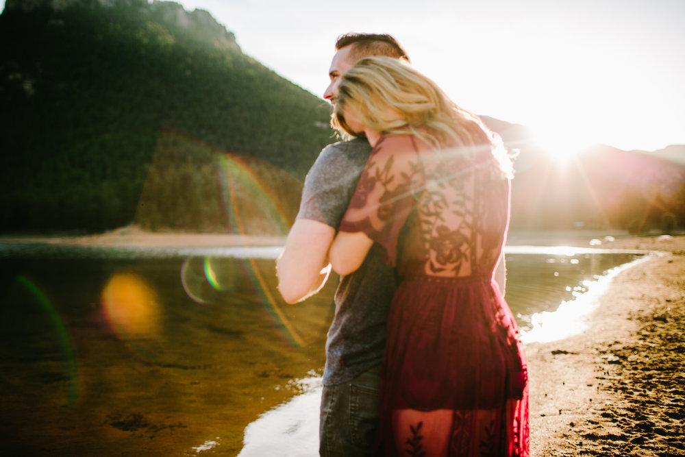 spencer & rhiann engaged - Lake Wellington, Bailey, Colorado