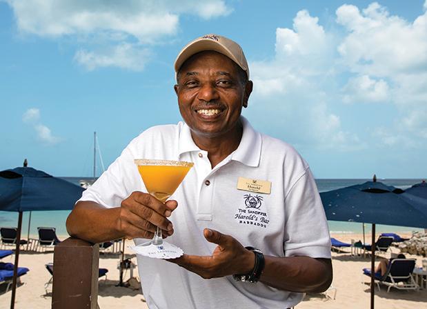 Bartender Harold Shepherd of  Harold's Bar, The Sandpiper