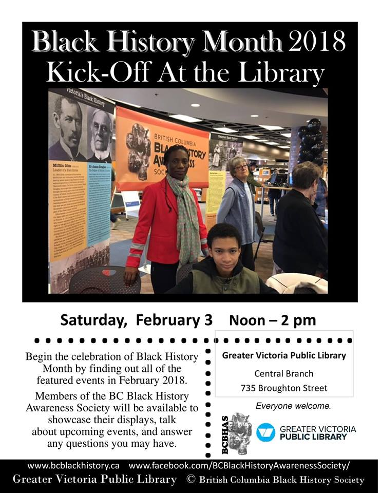 Visit   BC Black History Awareness Society  or their  Facebook page  for even more events!