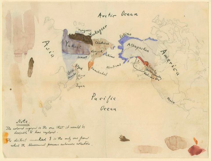 Original Boas map, courtesy of the  American Museum of Natural History