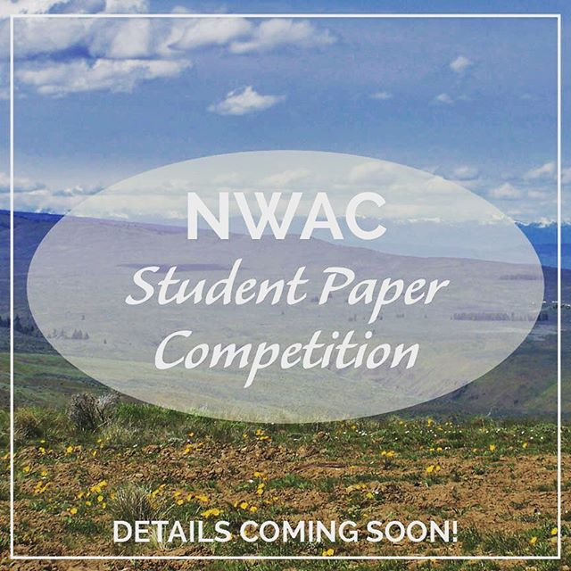 Calling all students! It's never too early to start your manuscript for submission to the Annual NWAC Student Paper Competition! . . . Win a CASH PRIZE and have your work published in The Journal of Northwest Anthropology! . . . More details announced soon—make sure you're following JONA's Instagram and Facebook page to stay updated! . . . This year's Northwest Anthropological Conference will be held March 19-23, 2019 in Kennewick, WA. . . . Know a student who may be interested? Help us spread the word!