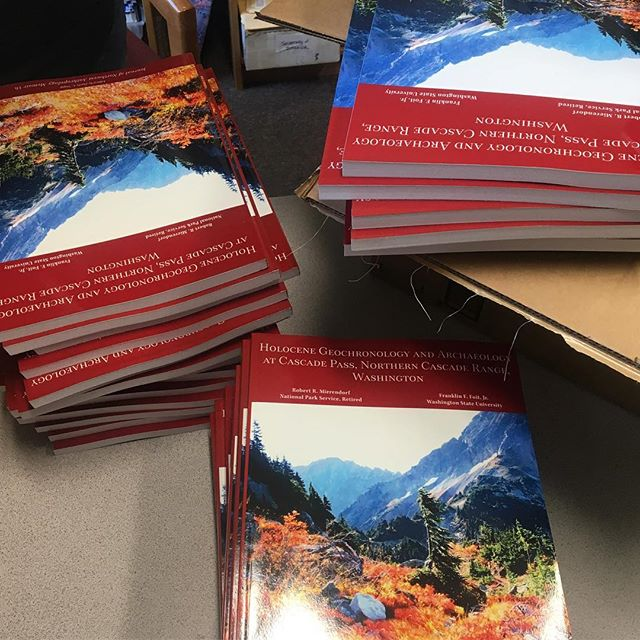 """150 copies of """"Holocene Geochronology and Archaeology at Cascade Pass"""" are hot off the press and ready to be shipped out to our subscribers. . . . Get your copy today—available on our website (link in bio) and on Amazon. . . . Want to subscribe? It's easy! Check out our Storefront on www.NorthwestAnthropology.com and click """"JONA Subscription/Renewal for 2019."""""""