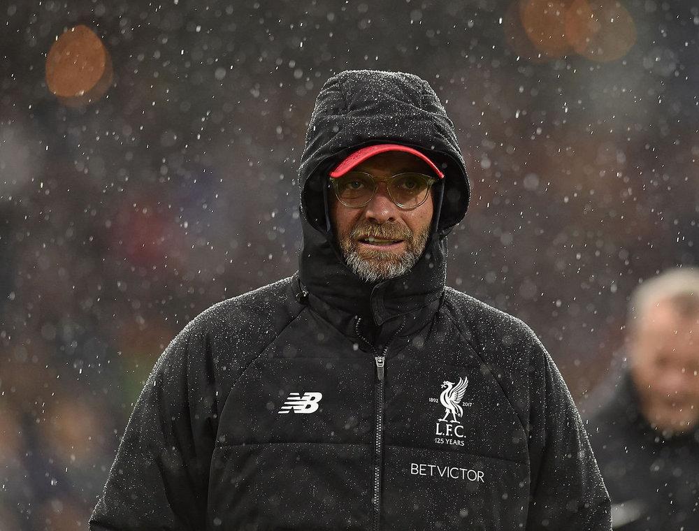 Liverpool coach Jurgen Klopp reacts after an English Premier League game