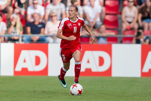 Lara Dickenmann leads Switzerland against Scotland Women