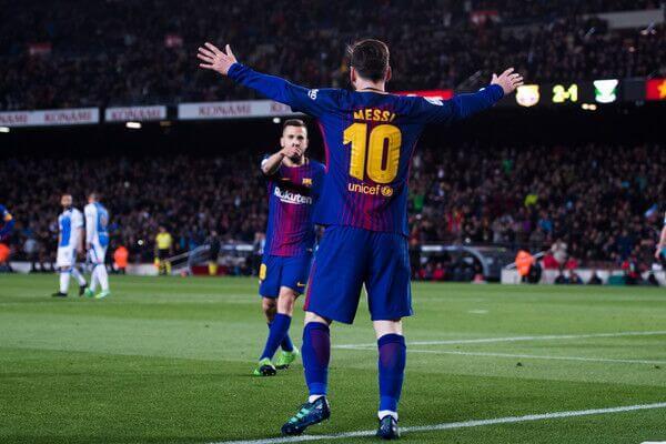 Lionel Messi scores a hat-trick for FC Barcelona against Leganes in La Liga