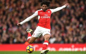 Mohamed Elneny in action for Arsenal FC in English Premier League
