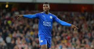 Iheanacho in action for Leicester FC in English Premier League