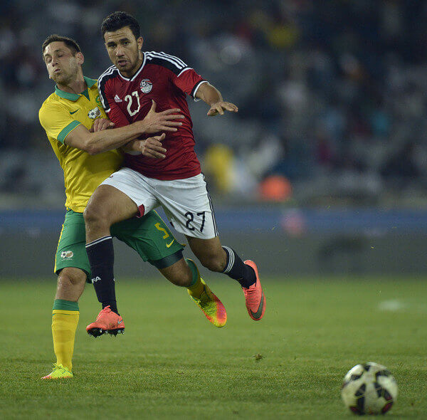 Mahmoud Hassan in action for Egyptian National Team