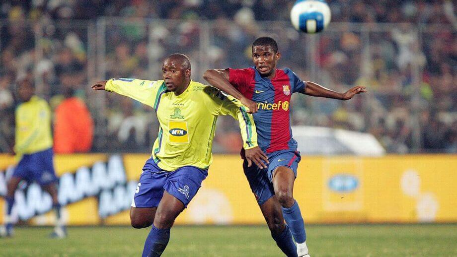 Samuel Eto'o in action against Mamelodi Sundowns
