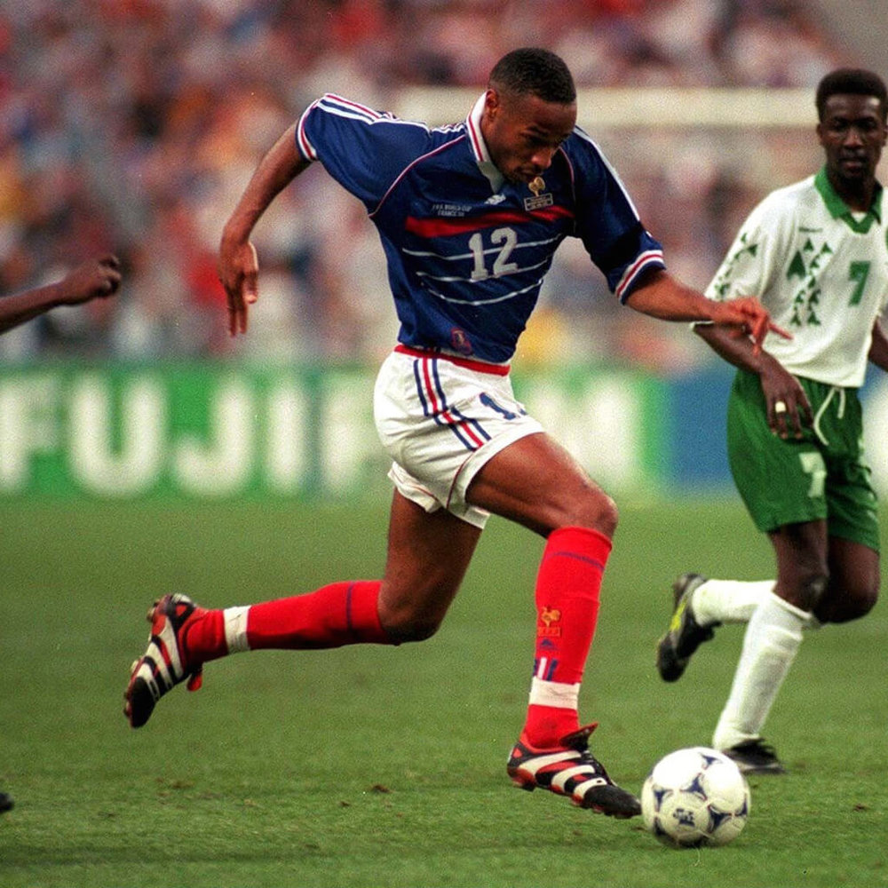 Thierry Henry, a youth product of Clairefontaine thrived in World Cup '98 for France