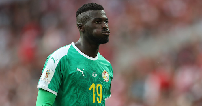 M'Baye Niang in action for Senegal in World Cup 2018.