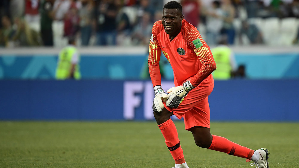 Francis Uzoho in action for Nigeria at World Cup 2018
