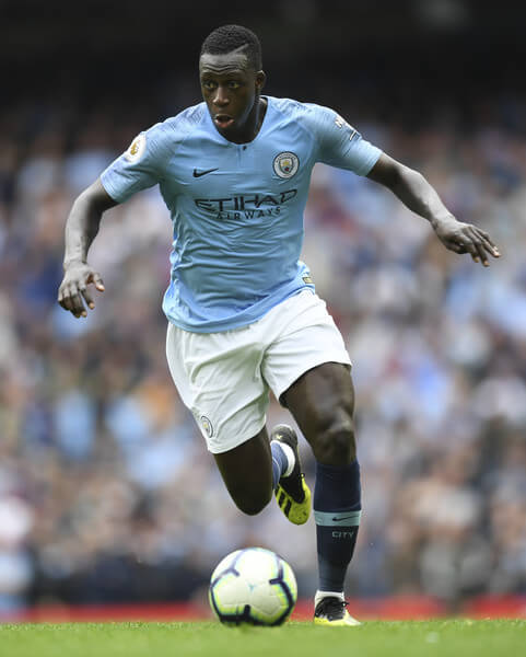 Benjamin Mendy of Manchester City in action during the Premier League match between Manchester City and Huddersfield Town at Etihad Stadium on August 19, 2018 in Manchester, United Kingdom.  (Aug. 18, 2018 - Source: Michael Regan/Getty Images Europe)