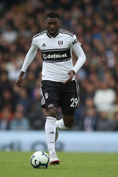 Andre-Frank Zambo Anguissa of Fulham in action during the Premier League match between Fulham FC and Watford FC at Craven Cottage on September 22, 2018 in London, United Kingdom.  (Sept. 21, 2018 - Source: Steve Bardens/Getty Images Europe)