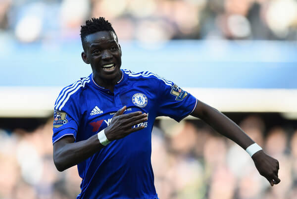 Bertrand Traore of Chelsea celebrates scoring his team's first goal during the Barclays Premier League match between Chelsea and Stoke City at Stamford Bridge on March 5, 2016 in London, England.  (March 4, 2016 - Source: Mike Hewitt/Getty Images Europe)