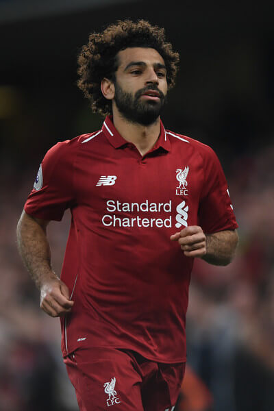 Mohamed Salah of Liverpool in action during the Premier League match between Chelsea FC and Liverpool FC at Stamford Bridge on September 29, 2018 in London, United Kingdom.  (Sept. 28, 2018 - Source: Mike Hewitt/Getty Images Europe)