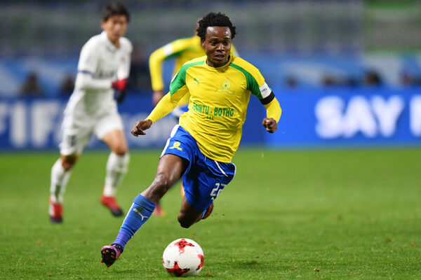 Percy Tau of Mamelodi Sundowns runs with the ball during the FIFA World Cup Quarter Final match between Mamelodi Sundowns and Kashima Antlers at Suita City Football Stadium on December 11, 2016 in Suita, Japan.  (Dec. 10, 2016 - Source: Atsushi Tomura/Getty Images AsiaPac)