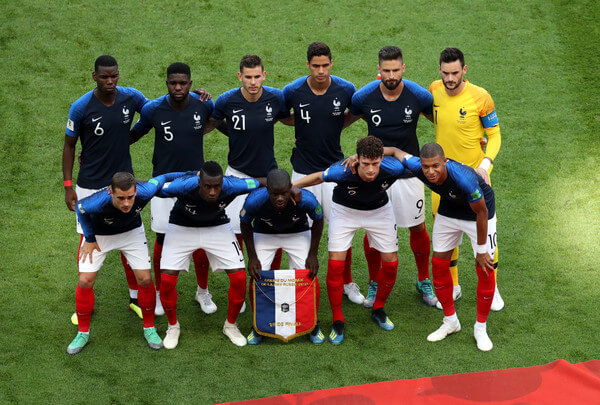 The France players pose for a team photo prior to the 2018 FIFA World Cup Russia Round of 16 match between France and Argentina at Kazan Arena on June 30, 2018 in Kazan, Russia.  (June 29, 2018 - Source: Catherine Ivill/Getty Images Europe)