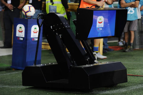 VAR display is seen prior to the serie A match between Frosinone Calcio and Bologna FC at Olimpico Stadium on August 26, 2018 in Turin, Italy.  (Aug. 25, 2018 - Source: Getty Images Europe)