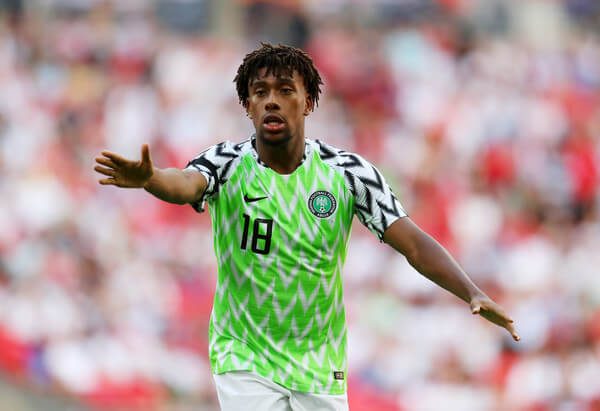 Alex Iwobi of Nigeria during the International Friendly match between England and Nigeria at Wembley Stadium on June 2, 2018 in London, England.  (June 1, 2018 - Source: Catherine Ivill/Getty Images Europe)