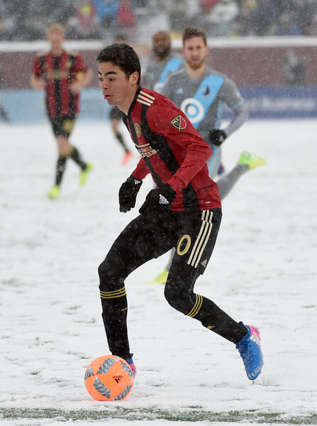 Miguel Almiron #10 of Atlanta United FC controls the ball against the Minnesota United FC during the second half of the match on March 12, 2017 at TCF Bank Stadium in Minneapolis, Minnesota. Atlanta defeated Minnesota 6-1.  (March 11, 2017 - Source: Hannah Foslien/Getty Images North America)