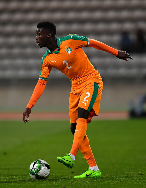 Nicolas Pepe of the Ivory Coast controls the ball during the International Friendly match between the Ivory Coast and Senegal at the Stade Charlety on March 27, 2017 in Paris, France.  (March 26, 2017 - Source: Dan Mullan/Getty Images Europe)