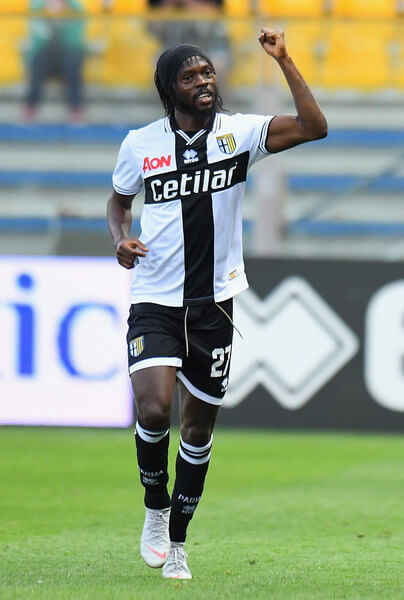 Gervinho of Parma Calcio celebrates after scoring the opening goal during the Serie A match between Parma Calcio and Empoli at Stadio Ennio Tardini on September 30, 2018 in Parma, Italy.  (Sept. 29, 2018 - Source: Alessandro Sabattini/Getty Images Europe)