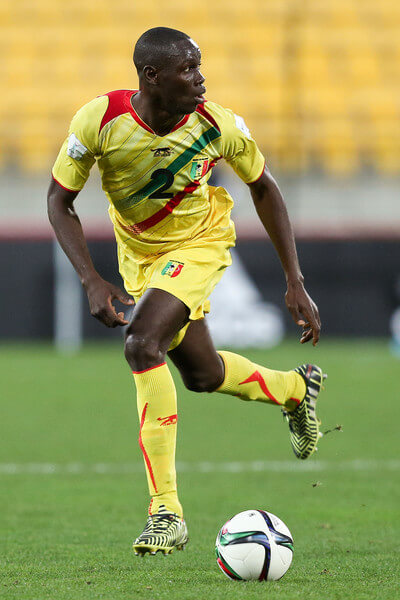Mohamed Diallo of Mali in action during the FIFA U-20 World Cup New Zealand 2015 Round of 16 match between Ghana and Mali at Wellington Regional Stadium on June 10, 2015 in Wellington, New Zealand.  (June 9, 2015 - Source: Hagen Hopkins/Getty Images AsiaPac)